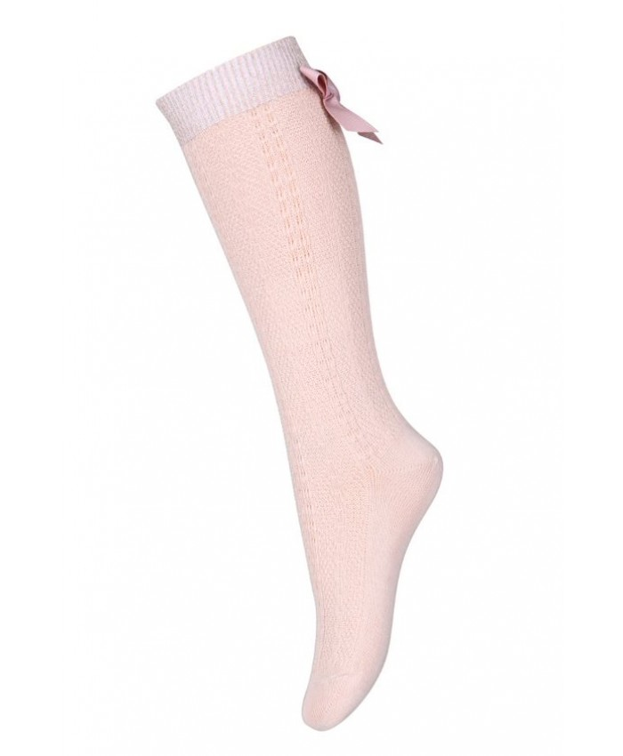 MP Denmark Sofia knee socks with bow Rose Dust