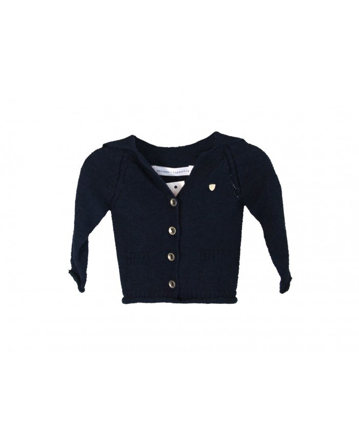 Message in the Bottle unisex cardigan Balsan navy