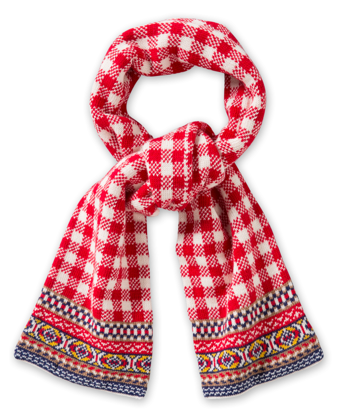 Oilily  scarf jacquard red