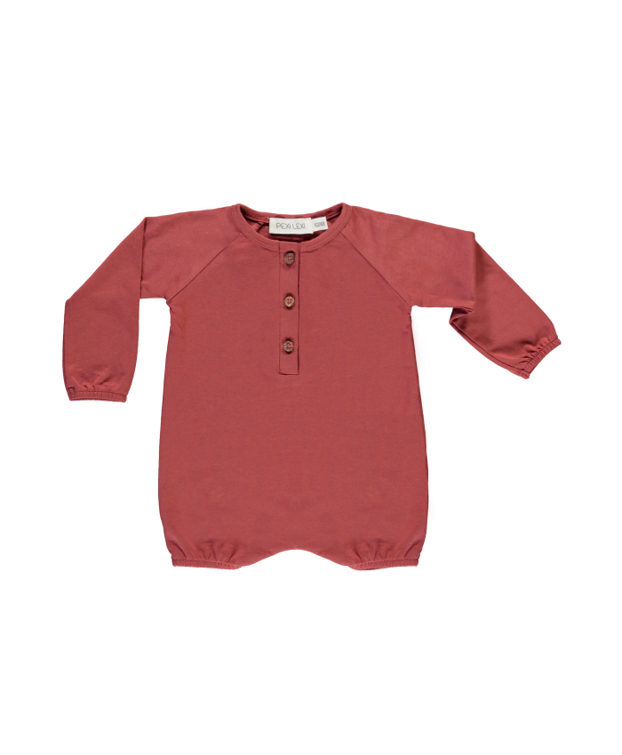 Pexi Lexi  Baby Jumpsuite  Marsala (steen rood)