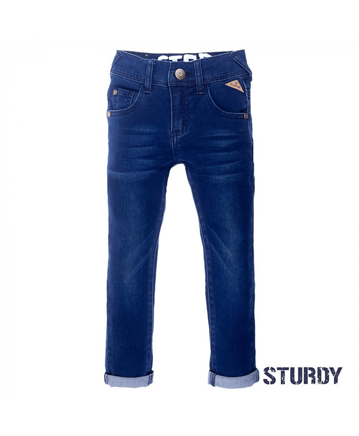 Sturdy Dark Blue Denim Jeans Boy's
