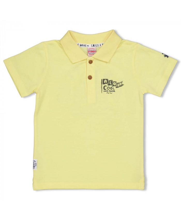 Sturdy Polo Smile  -Wave  Geel