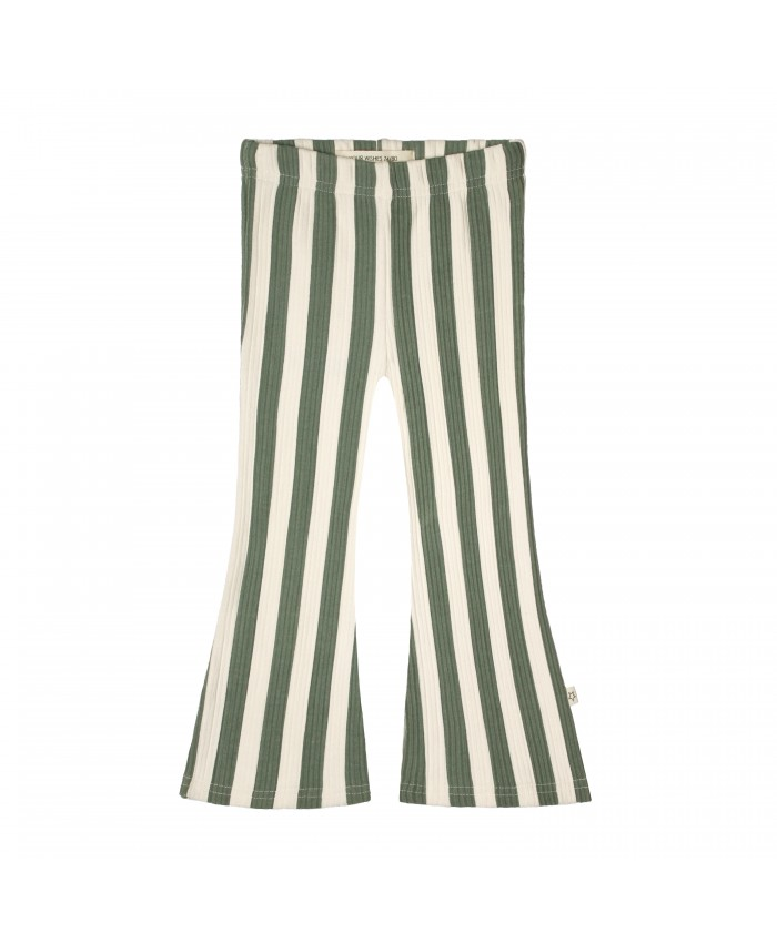 Your Whishes  Bold Stripes Flared Legging